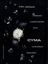 PUBLICITE CYMA MONTRE LIGNE PURE SUISSE BIJOU WATCH CLOCK DE 1953 FRENCH AD PUB