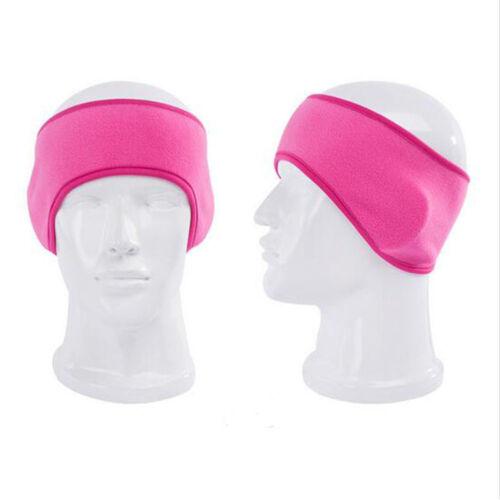 Unisex Mens Womens Fleece Earband Ear Warmers Stretchy Headband Earmuffs
