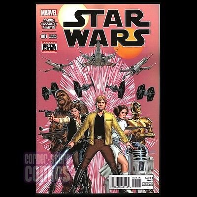 STAR WARS #1 (2015) 4th Print PINK Cover SOLD OUT Cassaday/Aaron NM!