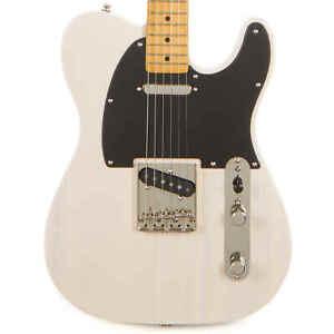 Utilise-Fender-SQUIER-Classique-Vibration-039-50s-TELECASTER-Blanc-Blond-2019