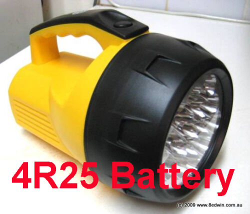 Powerful 16Led Torch Waterproof Using 6V large 4R25 Battery Continue light 160hr
