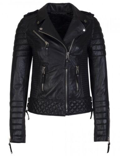 en d'agneau cuir Moto Soft peau Coat véritable Styliste Biker véritable Veste en pour femmes XZp6SqSw