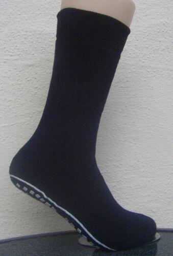 1 Paar Damen Stoppersocken Socken mit rutschfester ABS Sohle blau 35 bis 42