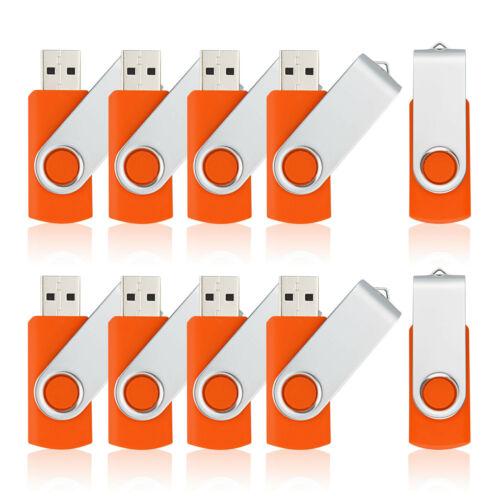 100X USB 2.0 Flash Drives 1GB-16GB Memory Sticks Thumb PenDrives Enough Storage