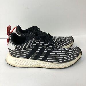 3bf843653 Adidas NMD R2 PK Primeknit Shoes Sneakers Men Size 11 White Black ...