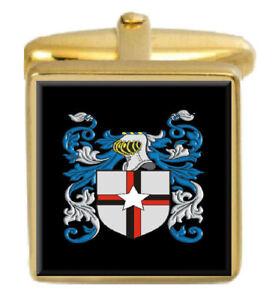 Rudd England Familie Wappen Heraldik Manschettenknöpfe Schachtel Set Graviert