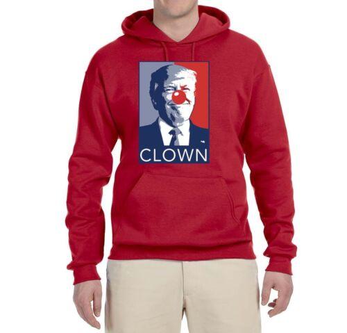 Trump Clown Political Humor Sweatshirt Funny Graphic Liberal Parody Hoodie