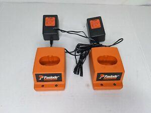 2-Genuine-Paslode-Impulse-Sans-Fil-Chargeur-De-Batterie-901230-avec-bloc-d-039-alimentation-900477