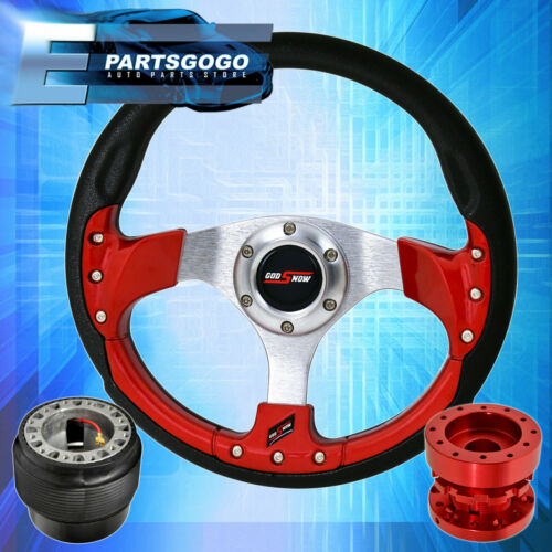 Red Hub Extender For 96-15 Civic Godsnow Pvc Red Fusion Style Steering Wheel