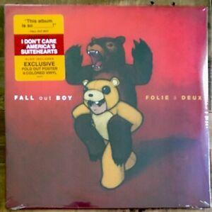 Fall-Out-Boy-Folie-A-Deux-LP-Vinyl-New-Red-amp-Orange-Color-Double-LP-Poster