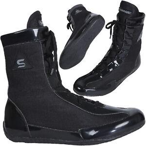 Sawans ® Boxing Shoes Wrestling Bottes Semelle en caoutchouc Maille Bracelet Lumière peser Gym MMA