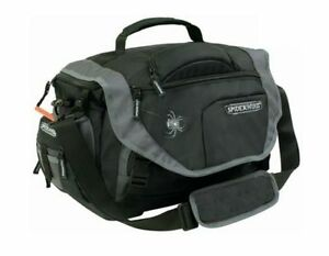 Spiderwire fishing black tackle bag large utility boxes for Spiderwire sling fishing backpack