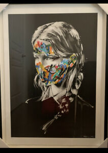 MARTIN-WHATSON-AND-SANDRA-CHEVRIER-Hand-Painted-Original-face-La-Cage-2016-COA