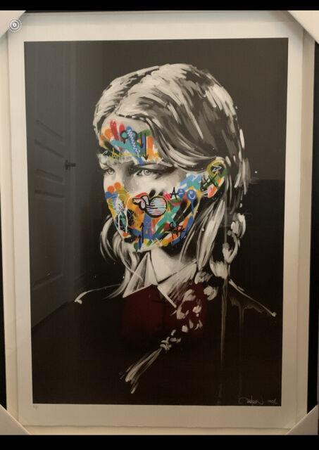 MARTIN WHATSON AND SANDRA CHEVRIER Hand Painted Original face La Cage 2016 + COA