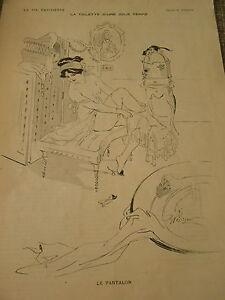 La-Toilette-d-039-une-Jolie-Femme-Le-Pantalon-dessin-de-Prejelan-Print-1910