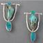 Vintage Boho Plaqué Argent Turquoise Gemstone Drop Dangle Crochet Boucle d/'oreille grossiste