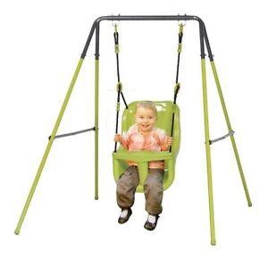 Altalena allegra baby gioco bambino in acciaio per esterno for Altalena da giardino per bambini chicco