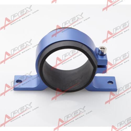 52mm ID Fuel Pump Bracket Anodised Single Billet Filter Clamp Cradle Blue