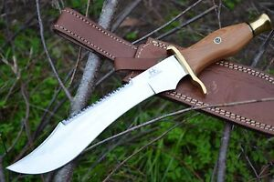 HUNTEX-Handmade-J2-Steel-14-034-Long-Olive-WoodFull-Tang-Hunting-Bowie-Dagger-Knife