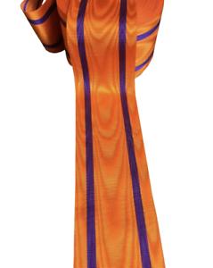 Masonic-Regalia-Apron-Orange-Moire-Effect-Ribbon-1-metre-width-size-10cm