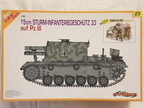 Dragon 9123 15cm Sturm-Infanteriegeschütz 33 auf Pz.III 1:35 Neu und eingetütet