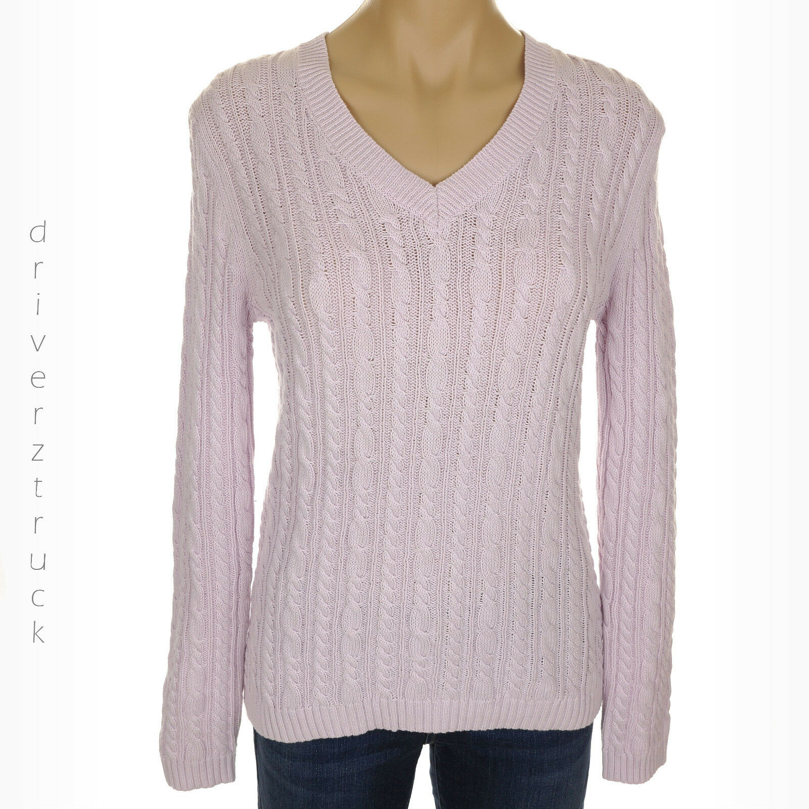 CROFT & BARROW New PETITE SMALL Cable Knit LAVENDER SWEATER Pastel ...