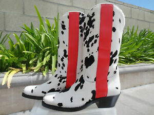 Calvin-Klein-205W39NYC-Raf-Simons-WESTERN-ED-Haircalf-Boot-Men-039-s-EUR-Italy-Size
