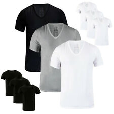 Calvin Klein Slim Fit Cotton Men's V-Neck or Crew Neck 3 Pack T-Shirts