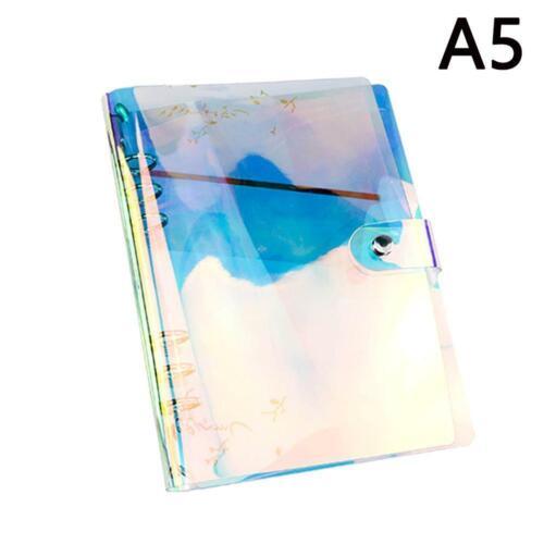 A7 Bunter PVC-Handbuch-Abdeckungs-Ringbuch-Aktenordner mit Knopf A6 A5