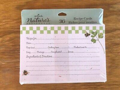 HALLMARK Marjolein Bastin Natures Sketchbook Recipe Card Box ~ VINTAGE NEW