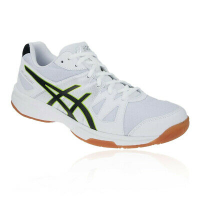 Asics Mens Gel-Upcourt Indoor Court Shoes White Sports Handball Squash Trainers