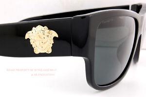3e81d82e2c0 Brand New VERSACE Sunglasses VE 4275 GB1 87 BLACK GRAY for Men Women ...