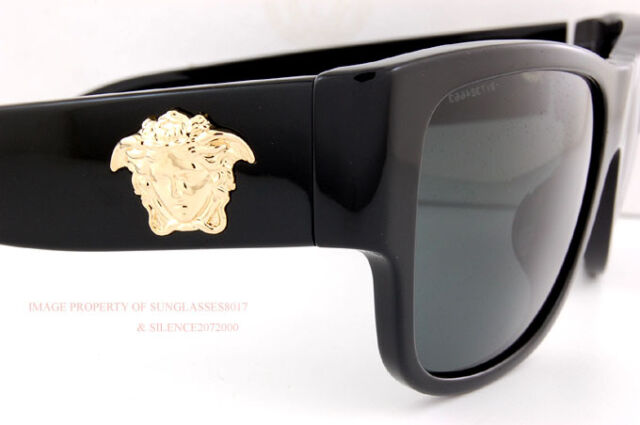 75df5a9c2baf Brand New VERSACE Sunglasses VE 4275 GB1 87 BLACK GRAY for Men Women Size