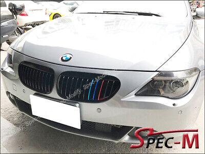 Jet Black W//M-Tri Metal Front Grille for BMW 2004-2010 E63 E64 640i 650i M6