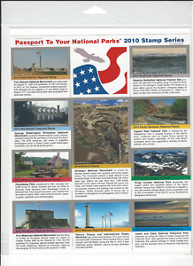 Passport To Your National Parks 2017 Stamp Series Sealed Self Adhesive Set of 10