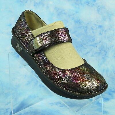 Alegria PALOMA Tots Gorge Womens 9 EU 39 Mary Jane Comfort Shoes Metallic