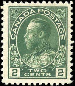 1922-Mint-H-Canada-2c-F-Scott-107i-Admiral-KGV-Stamp