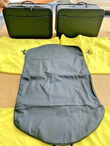 FERRARI California Spider - Black Leather 3 Pc Luggage Set ...