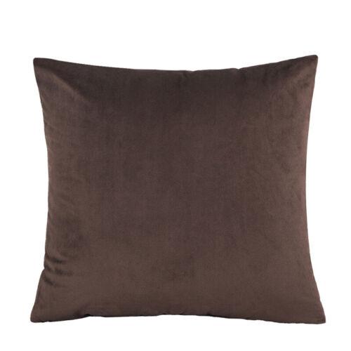 "16/"" 18/"" 20/"" 22/"" 24/"" Large Velvet Plain Cushion Cover Pillow Case Home Sofa Decor"