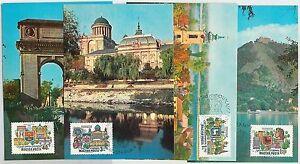 63565 - HUNGARY - POSTAL HISTORY: Set o 4 MAXIMUM CARDS 1969 - ARCHITECTURE