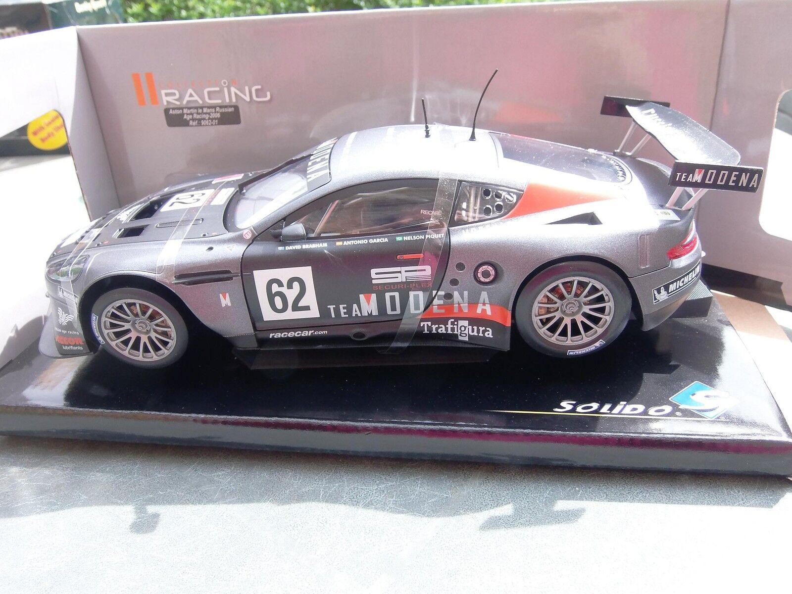 Aston Martin Solido Dbr9 2006 1 18 No. 62 Drivers  Garcia Brabham Piquet Jr