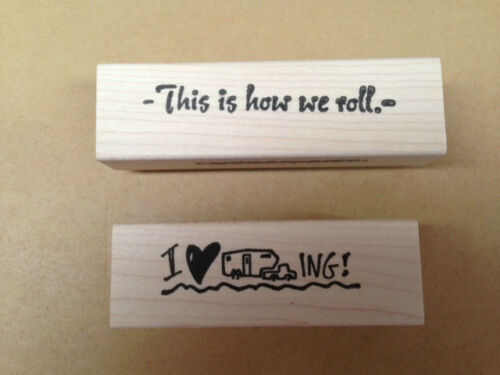 RV Stamps Camping Stamps Mounted Rubber Stamps Set Camping Sayings Travel