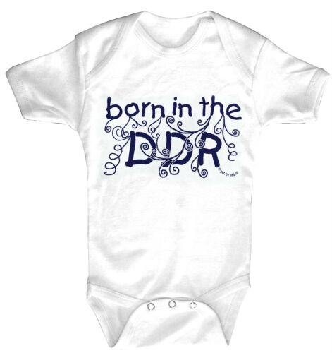 Baby Body born in the DDR Qualitäts Bodys 0-24 Monate 08390 weiß