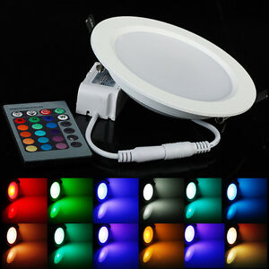 color changing rgb 5w 10w downlight led recessed ceiling panel light control ebay. Black Bedroom Furniture Sets. Home Design Ideas