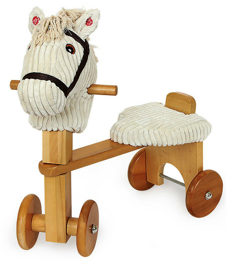 Rutscher Walker Pferd mit Melodie Holz  ca. 54 x 29 x 51 cm  Sitzhöhe ca. 23 cm