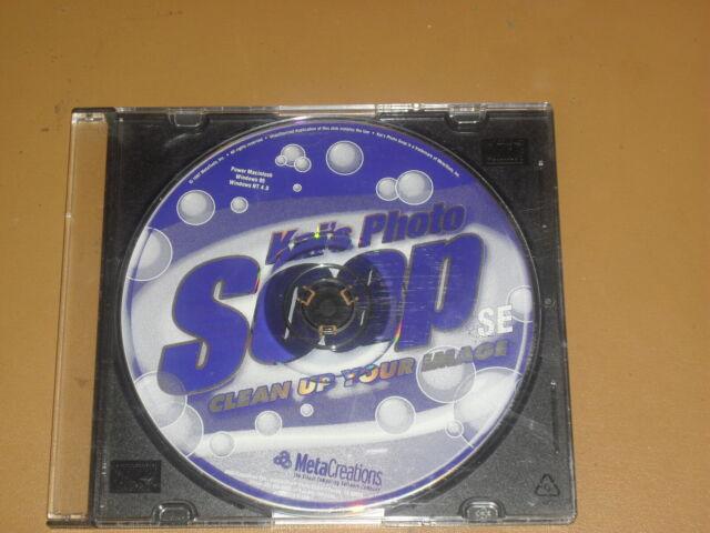 Kai's Photo Soap SE Photo Editing Software 1997, for Mac ...
