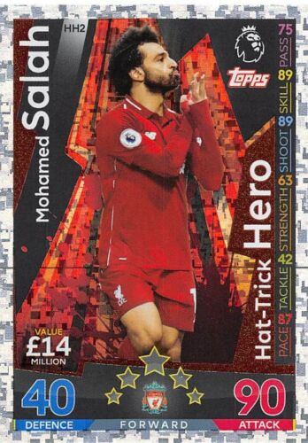 Match Attax Extra 2018//19 Mohamed Salah Hat-Trick Hero HH2 Como Nuevo