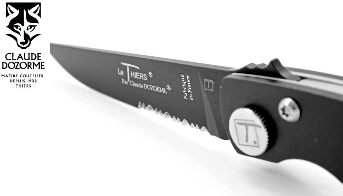 CLAUDE DOZORME LE THIERS DESIGN DESIGN DESIGN BK - Taschenmesser 11 cm Teflon-Klinge schwarz e46df2