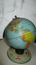 "Vintage, J Chein & Co Earth Toy 6"" Globe 1960's??? Made In USA"