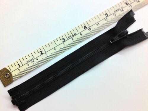 Zip separando 3,4,5 pulgadas YKK extremo abierto Cremallera ligero Negro Nylon